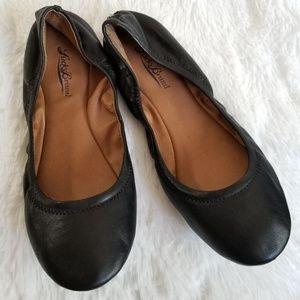 LUCKY BRAND   Black Ballerina Flats